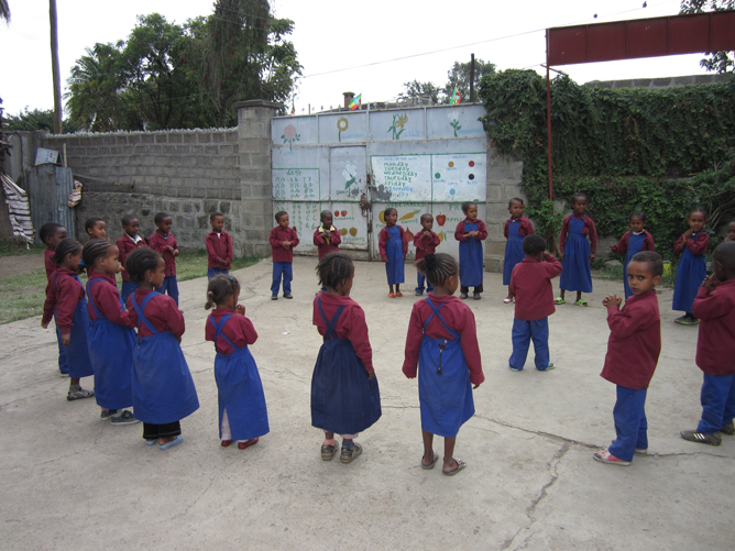 A little fun and and games in the school yard
